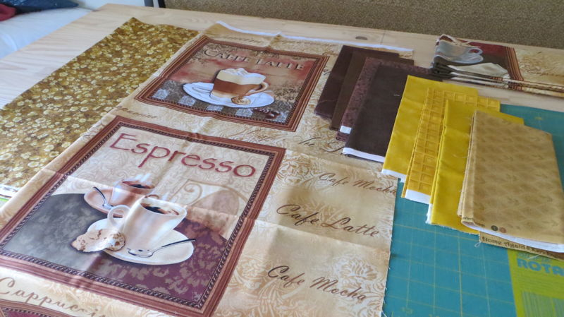 Printed blocks for coffee quilt