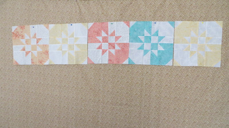 First blocks for Bali Crossroads quilt