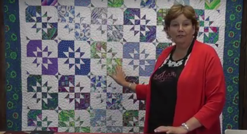 Missouri Star's Disappearing Hourglass quilt