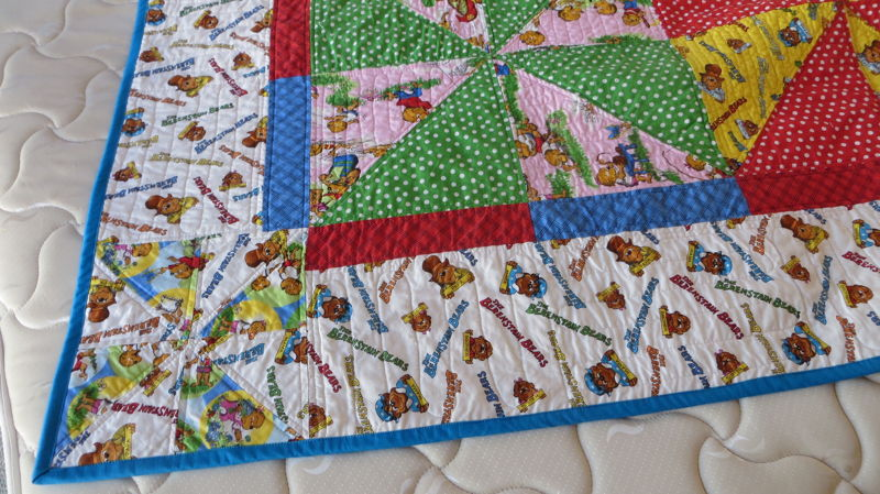 Corner showing quilting