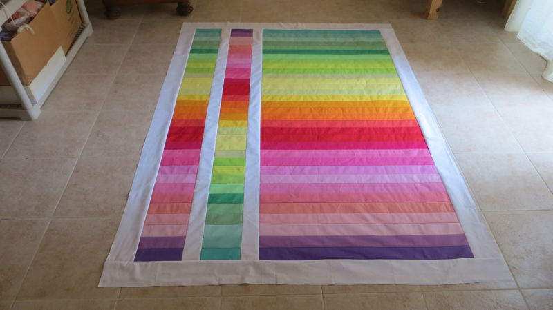 Finishted quilt top